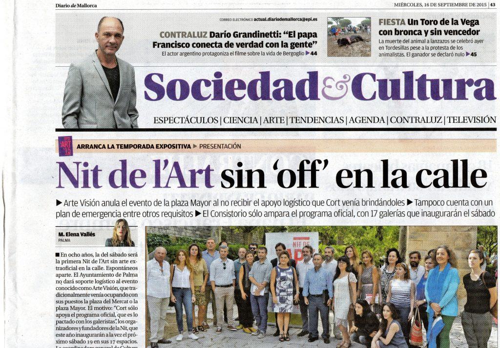 Diario de Mallorca 1 nit de L´Art 2015